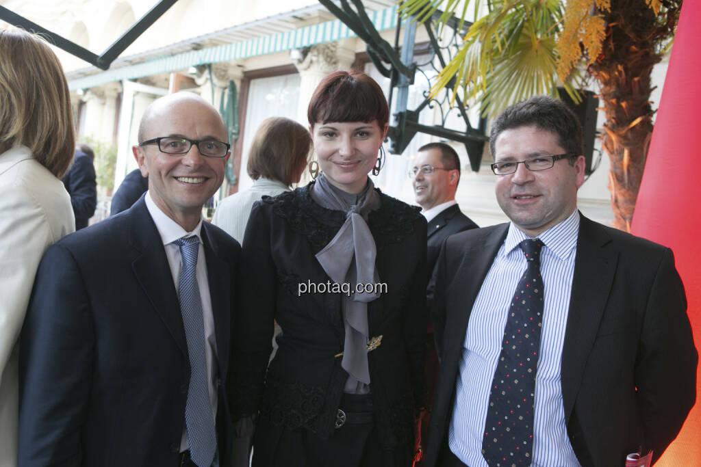 Hans Fruhmann (Mensalia), Dorota Majewska (Telekom Austria), Gerald Wechselauer (Amag), © finanzmarktfoto/Martina Draper (15.05.2013)