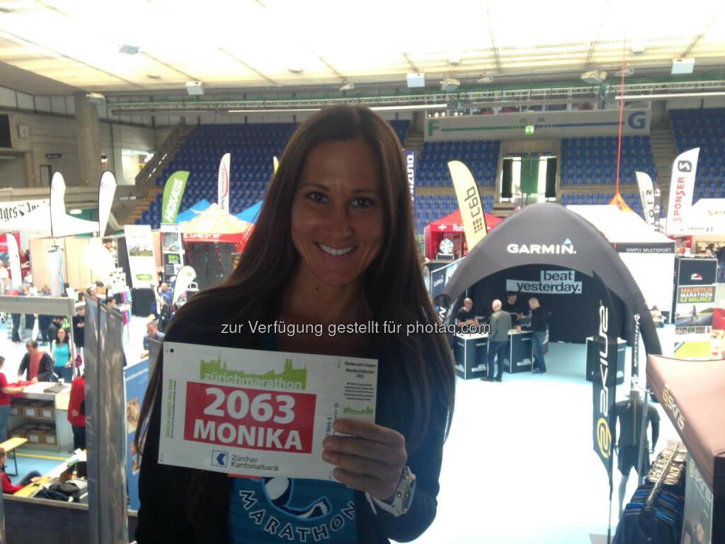 Monika Kalbacher, Zürich Marathon, Startnummer (08.04.2017)