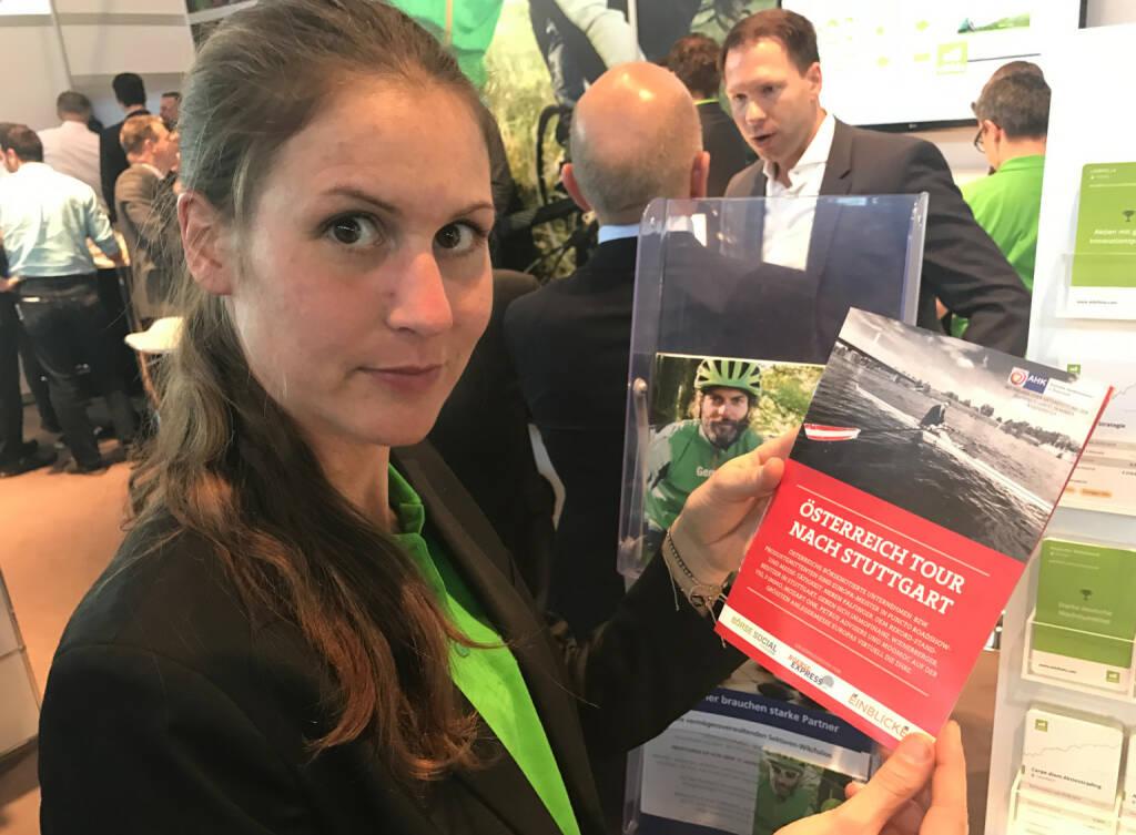 Christina Öhler mit dem Mini-  http://www.boerse-social.com/magazine , beigelegt bei http://markteinblicke.de #invest2017 (09.04.2017)