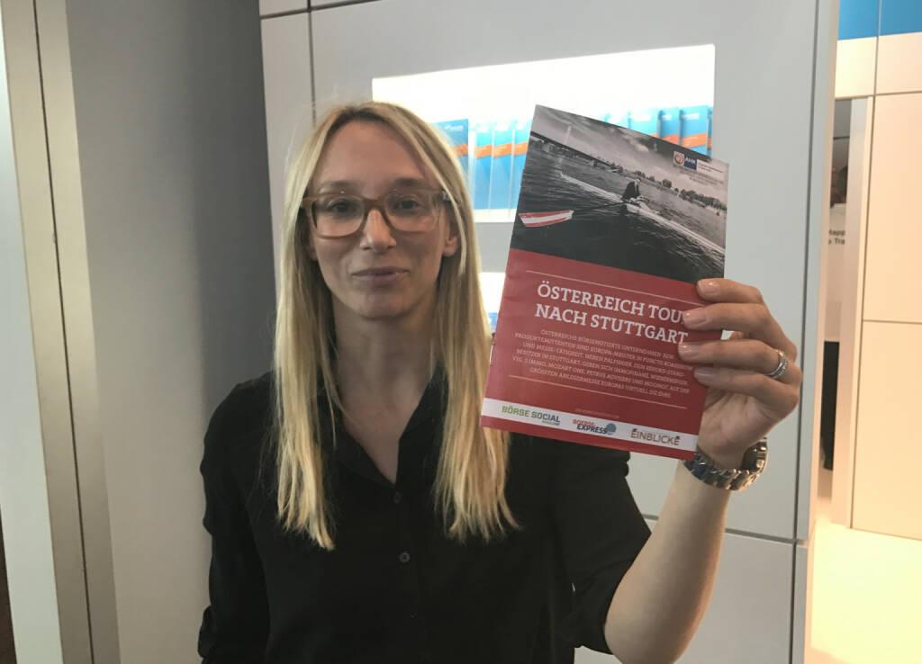Sarah Brylewski, ayondo, mit dem Mini-  http://www.boerse-social.com/magazine , beigelegt bei http://markteinblicke.de #invest2017 (09.04.2017)