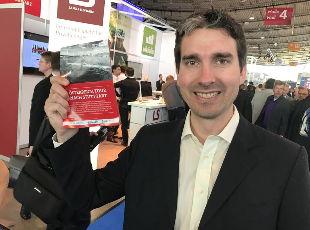 Wolfang Matzner mit dem Mini-  http://www.boerse-social.com/magazine , beigelegt bei http://markteinblicke.de #invest2017 (09.04.2017)