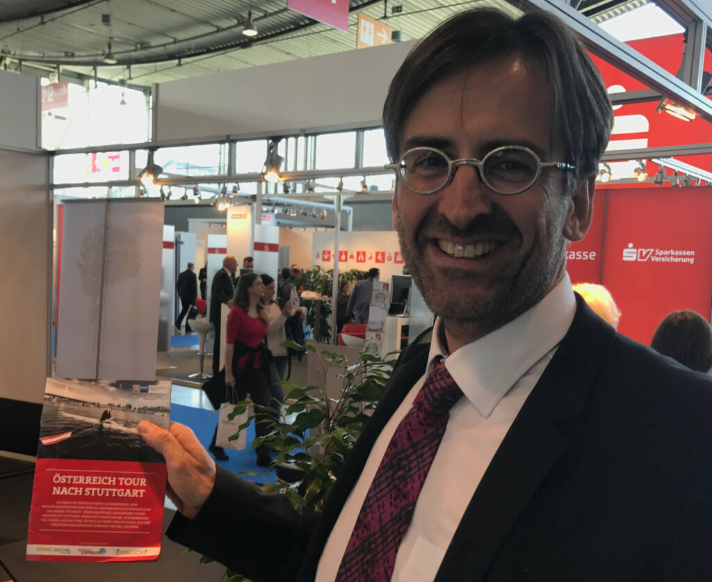 Gerhard Massenbauer mit dem Mini-  http://www.boerse-social.com/magazine , beigelegt bei http://markteinblicke.de #invest2017 (09.04.2017)
