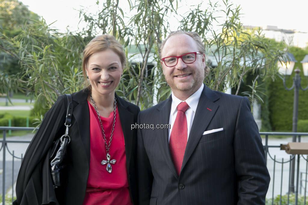Petra Kletecka (Der Standard), Georg Panholzer (Die Presse), © finanzmarktfoto/Martina Draper (15.05.2013)