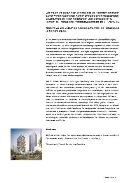 "Strabag-Tochter Züblin errichtet ""Congreshotel & Residential Tower Overhoeks"" in Amsterdam, Seite 2/2, komplettes Dokument unter http://boerse-social.com/static/uploads/file_2204_strabag-tochter_zublin_errichtet_congreshotel_residential_tower_overhoeks_in_amsterdam.pdf (11.04.2017)"
