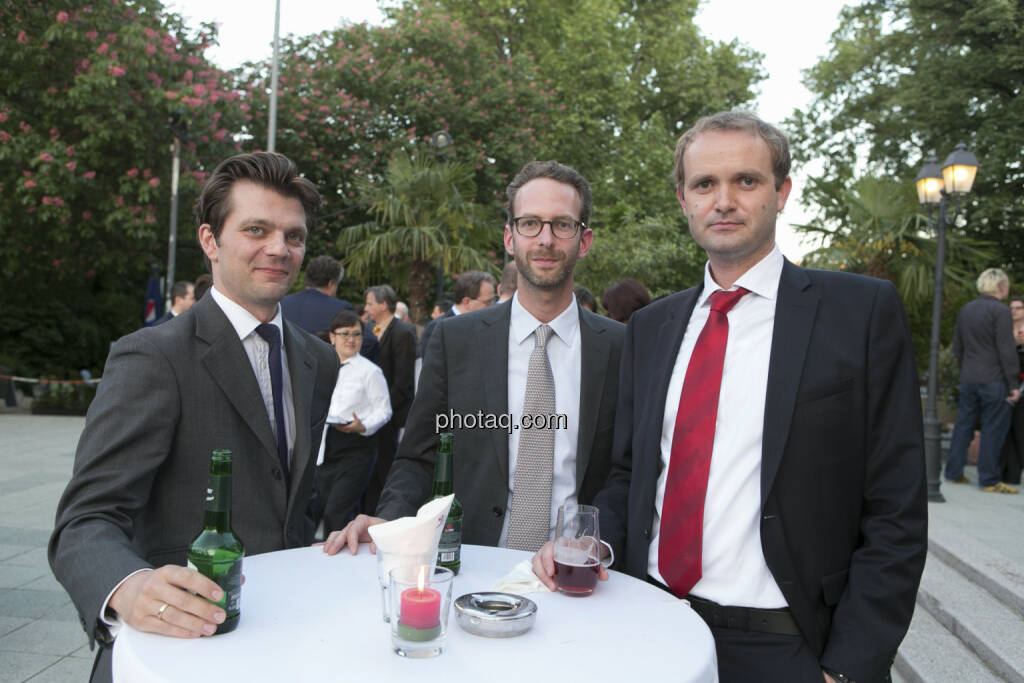 Michael Siller (RCB), Daniel Folian (Warimpex), Hannes Haider (Agrana), © finanzmarktfoto/Martina Draper (15.05.2013)