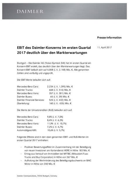 Ebit des Daimler-Konzerns im ersten Quartal 2017 , Seite 1/2, komplettes Dokument unter http://boerse-social.com/static/uploads/file_2205_ebit_des_daimler-konzerns_im_ersten_quartal_2017.pdf (11.04.2017)
