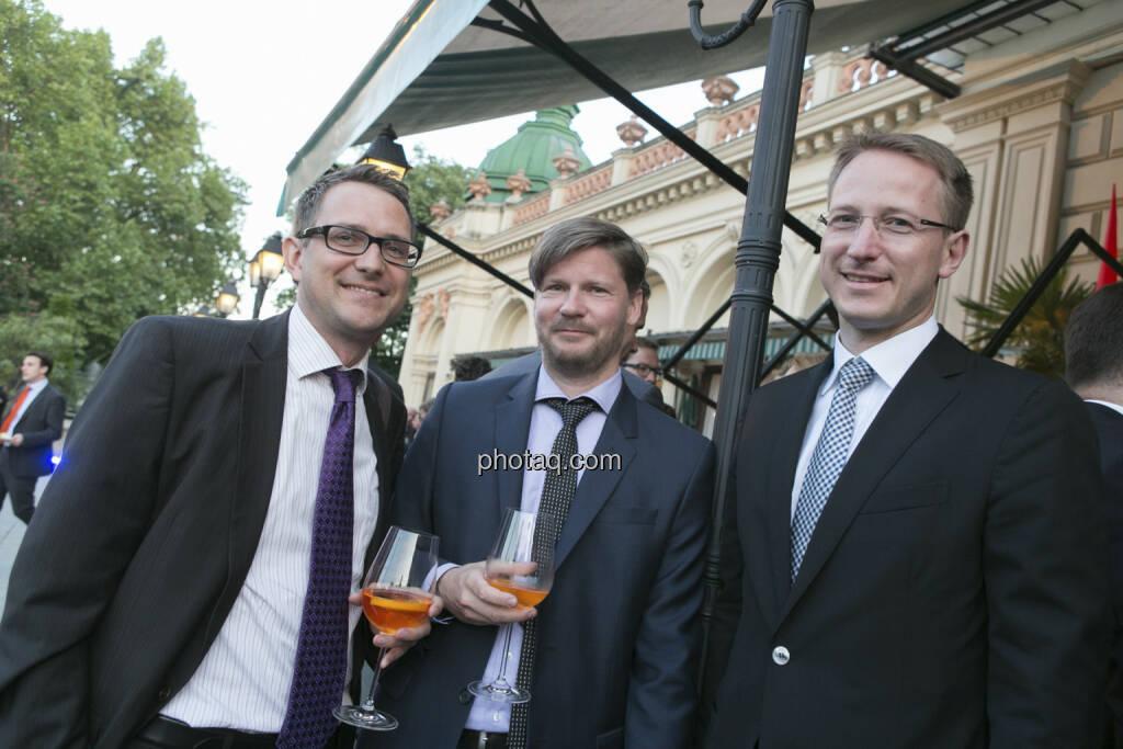 Gerald Walek (Erste Group), Günther Schmitt (RCM), Bernd Maurer (RCB), © finanzmarktfoto/Martina Draper (15.05.2013)