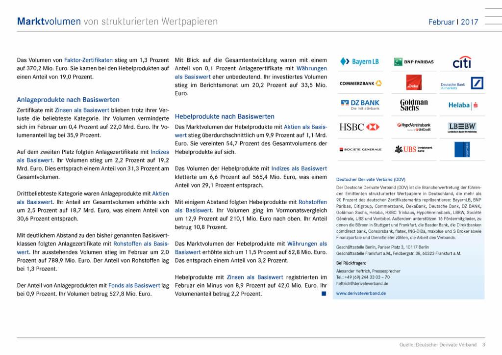 DDV zu Marktvolumen im Februar 2017: Strukturierte Wertpapiere im Trend, Seite 3/7, komplettes Dokument unter http://boerse-social.com/static/uploads/file_2214_ddv_zu_marktvolumen_im_februar_2017_strukturierte_wertpapiere_im_trend.pdf (19.04.2017)