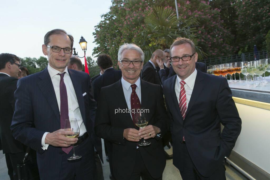 Walter Oblin, Georg Pölzl (Post), Volker Pyrtek (CEO des Einkaufs-JVs von Deutscher und Französischer Telekom), © finanzmarktfoto/Martina Draper (15.05.2013)