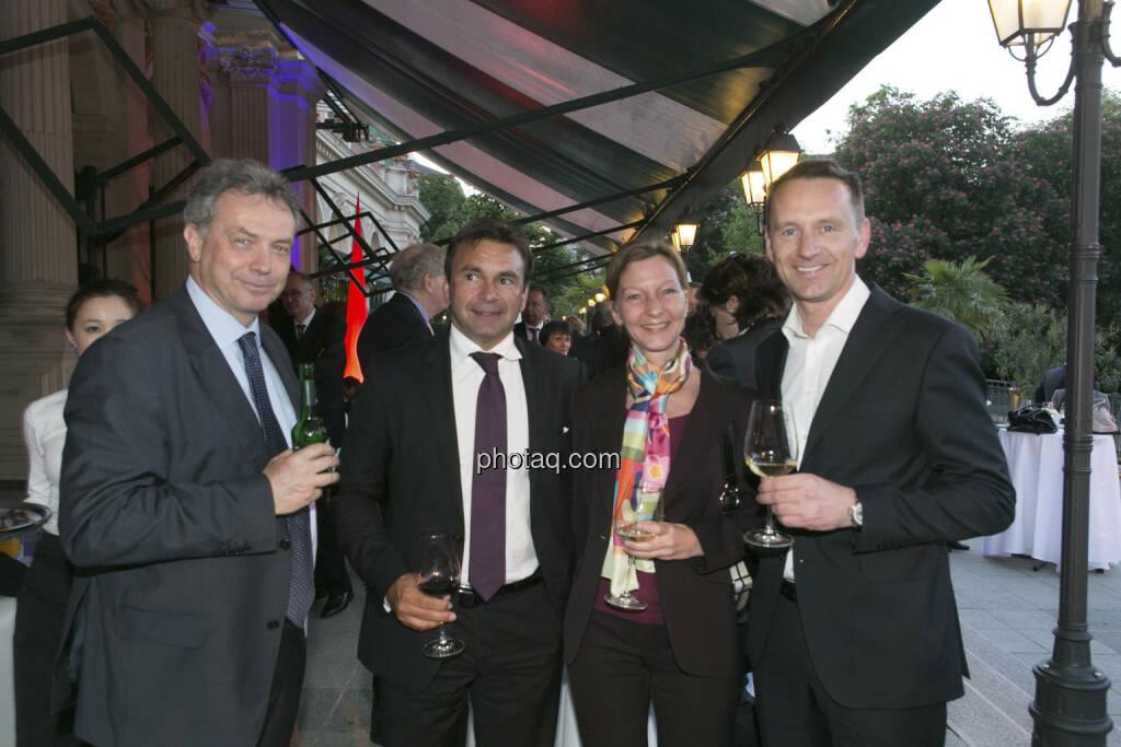 Bernhard Grabmayr (Scholdan), Eduard Schreiner (Verbund International), Doris Gstatter (Scholdan), Herbert Ortner (Palfinger), © finanzmarktfoto/Martina Draper (15.05.2013)
