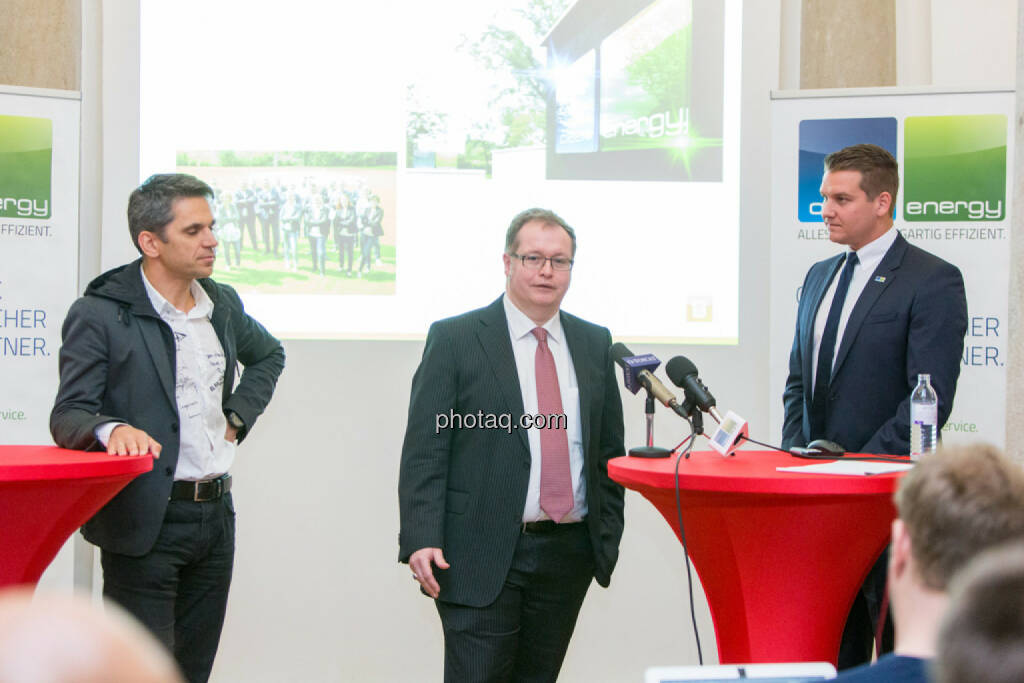 Michael Altrichter (Investor), Gregor Rosinger (Rosinger Group, Investor), Lukas Scherzenlehner (Cleen Energy), © Martina Draper/photaq (20.04.2017)