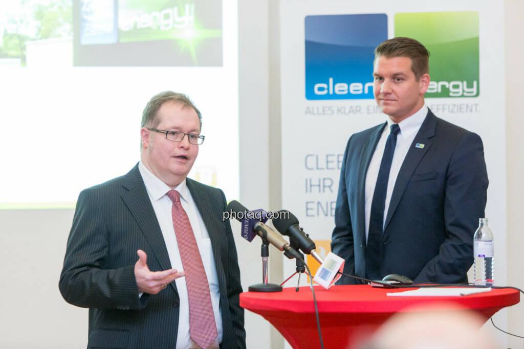 Gregor Rosinger (Rosinger Group, Investor), Lukas Scherzenlehner (Cleen Energy), © Martina Draper/photaq (20.04.2017)
