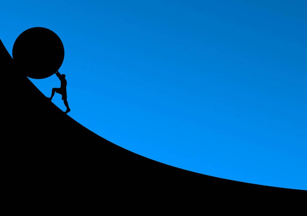 Widerstand, Gegenwind, Mühsam, Schwer, Aufgabe, Herausforderung (Bild: Pixabay/NeuPaddy https://pixabay.com/de/überwindung-stein-rollen-schieben-2127669/ ) (21.04.2017)