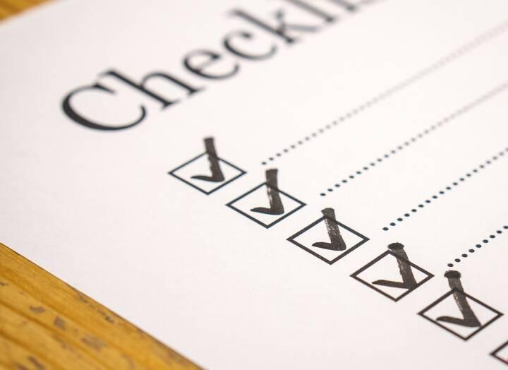 Liste, Check, Checklist, Checkliste, Info, Information, Zettel (Bild: Pixabay/TeroVesalainen https://pixabay.com/de/checkliste-überprüfen-liste-marker-2077018/ )