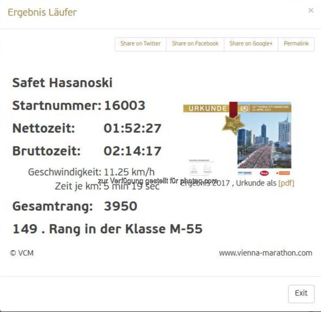 Ergebnis Safet Hasanoski (23.04.2017)