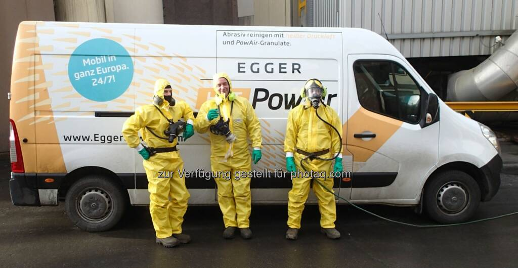 100% Sicherheit, persönliche Schutzausrüstung für jeden Einsatz richtig gewählt - Egger PowAir Cleaning GmbH: Stand der Technik - PowAir Cleaning (Fotocredit: Egger PowAir Cleaning GmbH), © Aussender (24.04.2017)