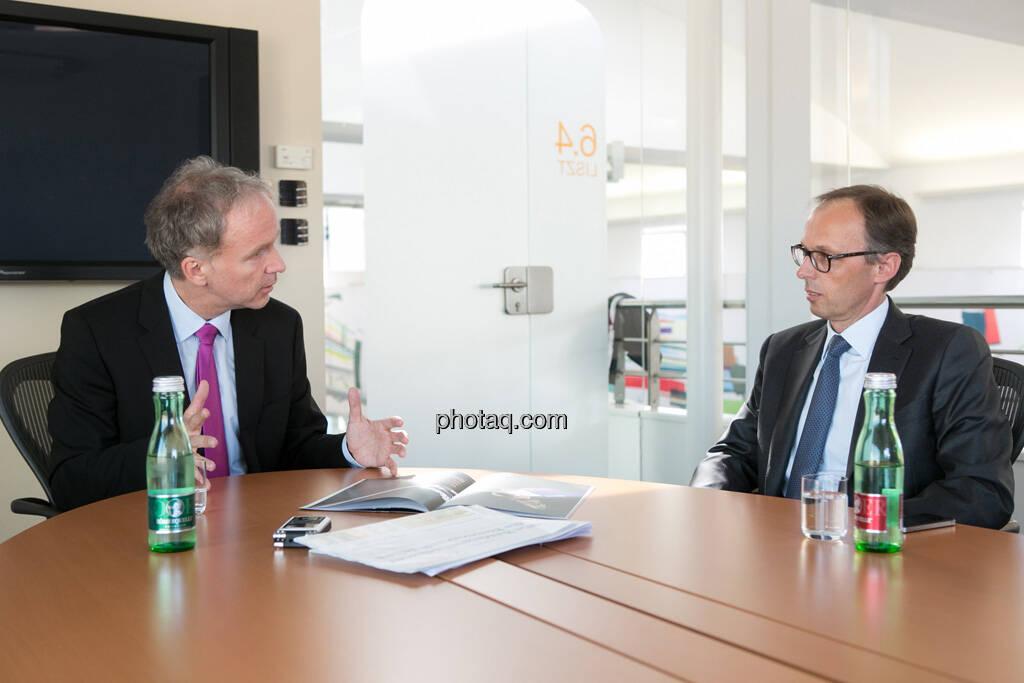 Christian Drastil, Klaus Malle (Country Managing Director Accenture Österreich), © finanzmarktfoto/Martina Draper (15.05.2013)