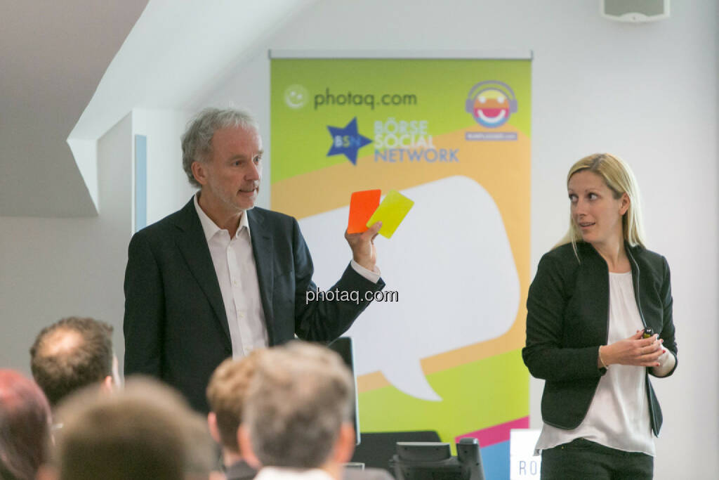 Christian Drastil (BSN), Lisa Wagerer (S Immo, aktientrophy.at), © Martina Draper/photaq (27.04.2017)