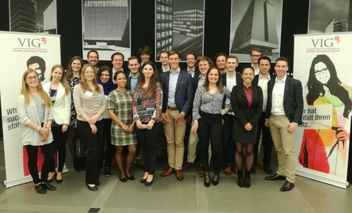 VIG - Students from the Erasmus University Rotterdam visited VIG and spoke to colleagues from our Actuarial Services, Risk Management and Asset Management departments. We offered informal talks with our colleagues to introduce these financial mathematicians to potential fields of work. So why not VIG?