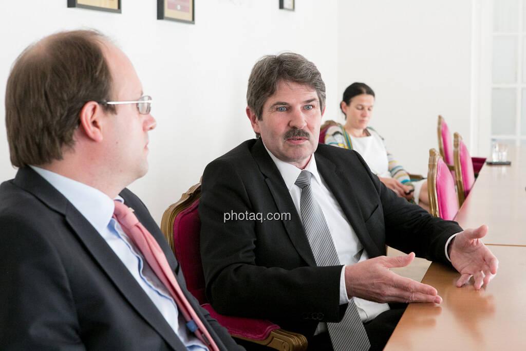 Florian Nowotny (CA Immo), Ernst Vejdovszky (S Immo), Bettina Schragl (Immofinanz), © finanzmarktfoto.at/Martina Draper (15.05.2013)