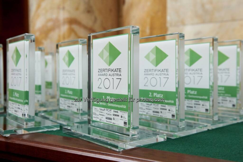 Zertifikate Award Austria 2017 (Fotocredit: Zertifikate Forum Austria) (19.05.2017)
