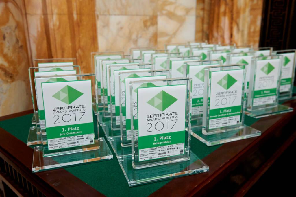 Zertifikate Award Austria 2017 (Fotocredit: Zertifikate Forum Austria), © Zertifikate Forum Austria (19.05.2017)