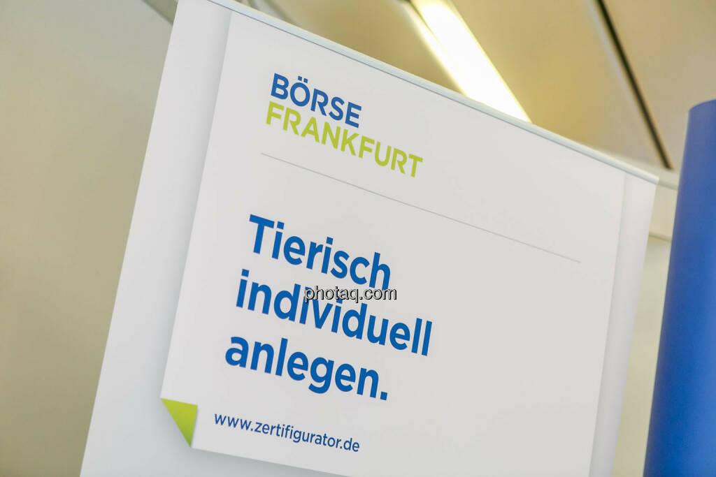 Börse Frankfurt, Tierisch individuell anlegen - Börsentag Wien, 20.5.2017, © Martina Draper photaq.com (am Ende der Diashow zusätzlich diverse Handy-Pics) (21.05.2017)
