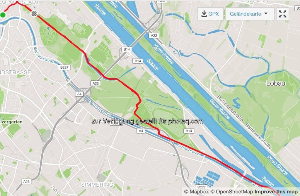 21,21km Hauptalle - Praterspitz (24.05.2017)