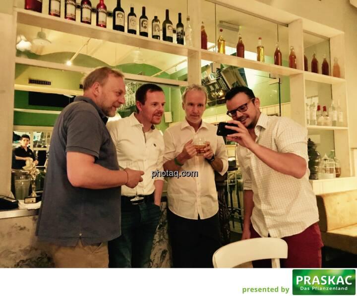 Heinz Karasek (Das Heinz), Christian-Hendrik Knappe (Deutsche Bank), Christian Drastil (BSN), Michael Plos (BSN)