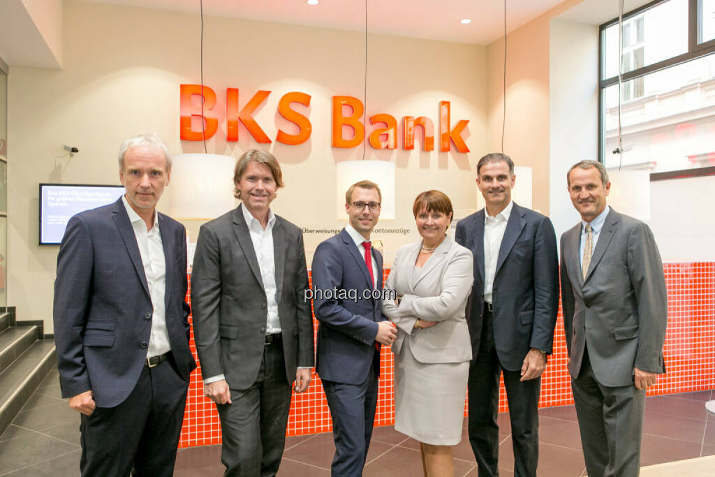 Christian Drastil (BSN), Thomas Vittner (moomoc), Klaus Ofner (Wienerberger), Herta Stockbauer (BKS), Peter Haidenek (Polytec), Anton Seebacher (BKS), © Martina Draper/photaq (29.05.2017)