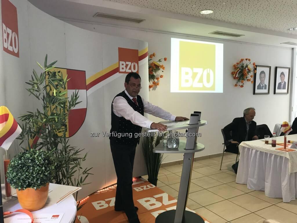 BZÖ-Kärnten Landesobmann Helmut Nikel - Bündnis Zukunft Österreich - BZÖ: Grafensteiner Gemeindevorstand Nikel neuer Obmann des BZÖ-Kärnten! (Fotocredit: BZÖ Kärnten), © Aussender (06.06.2017)