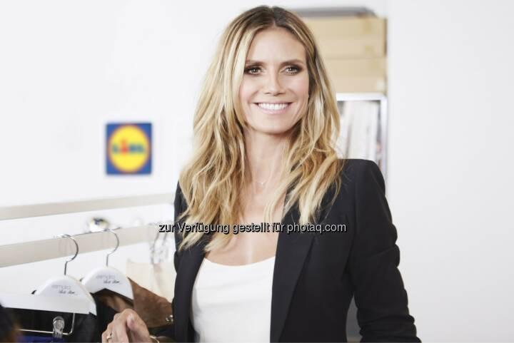 Ende des Jahres können sich Lidl-Kunden auf die exklusive Kollektion von Heidi Klum freuen - Lidl Österreich GmbH: Fashion für alle: Heidi Klum für Lidl (Fotocredit: Lidl)