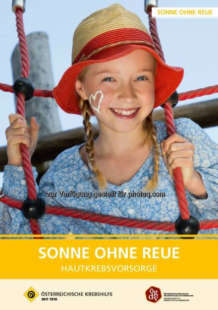 """Österreichische Krebshilfe: 30 Jahre """"Sonne ohne Reue"""" (Fotocredit: Krebshilfe), © Aussender (07.06.2017)"""