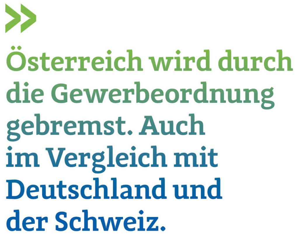 Österreich wird durch die Gewerbeordnung gebremst. Auch im Vergleich mit Deutschland und der Schweiz. (Thomas Gindele, Hauptgeschäftsführer der Deutschen Handelskammer in Österreich) (12.06.2017)