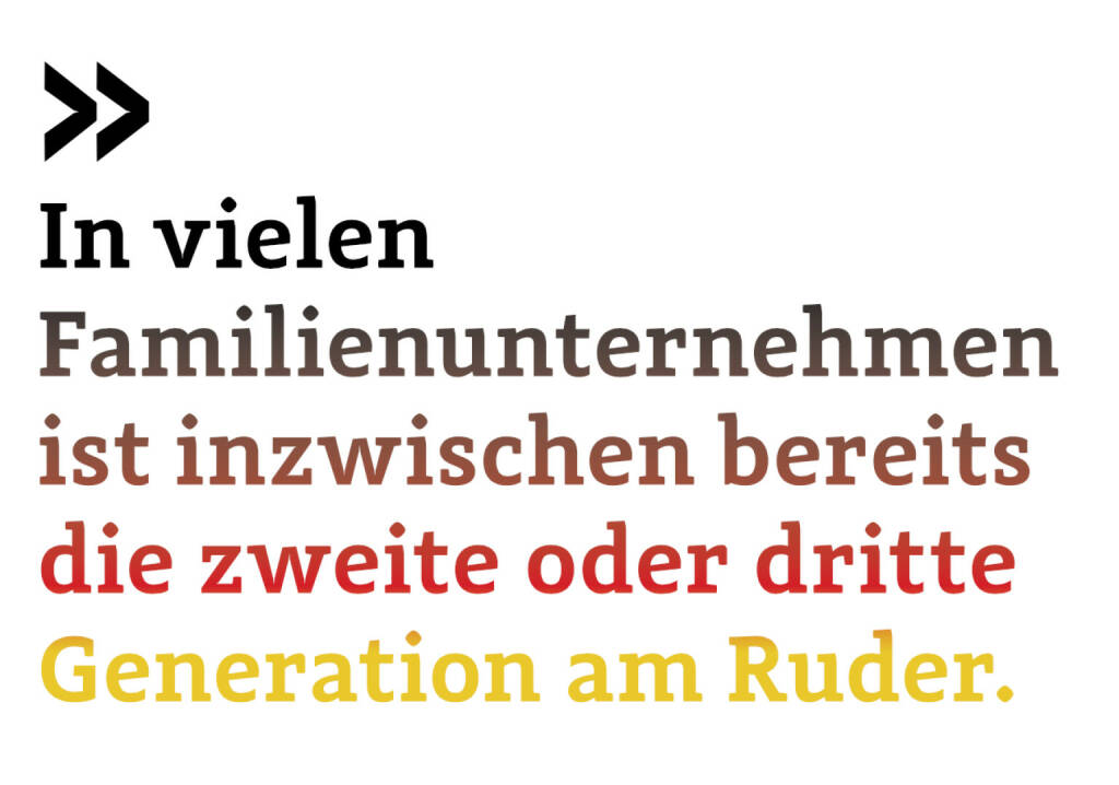 In vielen Familienunternehmen ist inzwischen bereits die zweite oder dritte Generation am Ruder (Christoph Scherbaum, German of the Board) (12.06.2017)