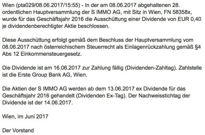 Indexevent Rosinger-Index 27: Uniqa Dividende 13.6. Dividende 0,40 EUR -> Erhöhung Stückzahl um 3,17 Prozent