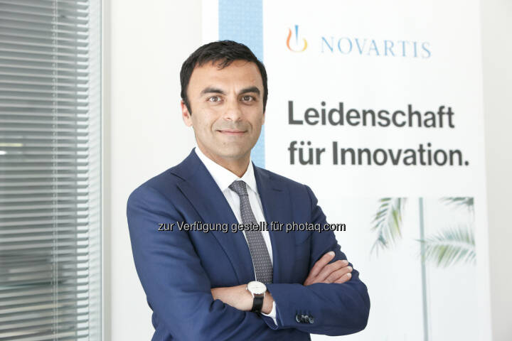 Neuer Chef für den Marktführer Novartis Pharma GmbH: Chinmay Bhatt, 43 - Novartis Austria GmbH: Chinmay Bhatt wird neuer Geschäftsführer der Novartis Pharma GmbH (Fotocredit: Novartis/APA-Fotoservice/Roßboth)
