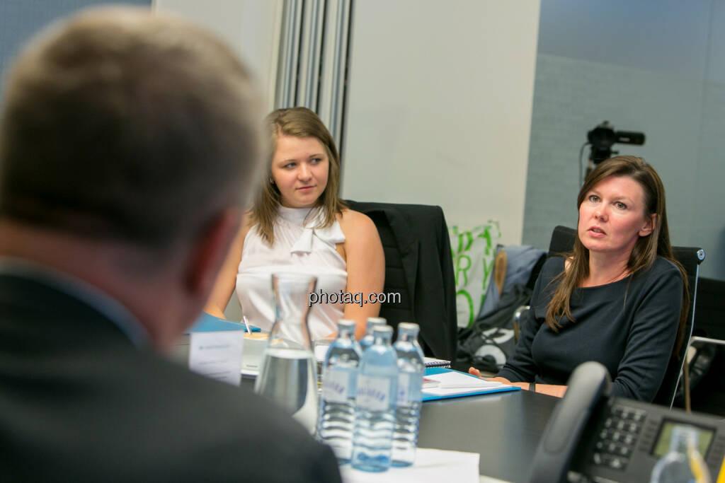 Madelaine Serlath (Studentin) - FH-Prof. Mag. Monika Kovarova-Simecek (Dozentin am Department Medien und Wirtschaft der FH St. Pölten) - (Fotocredit: Martina Draper) (14.06.2017)