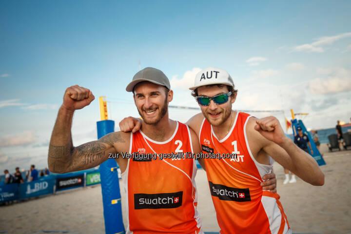 Tobias Winter und Robin Seidl - Beach Majors GmbH: Teilnehmerfeld für die FIVB Beach Volleyball WM 2017 komplett (Fotograf: Martin Steinthaler   tinefoto.com / Fotocredit: Beach Majors GmbH)