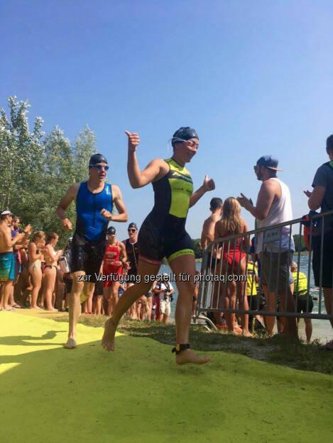 Martina Kaltenreiner: 750m done - auf geht's in Schwimmrunde Nr. 2 :-) © Jaqueline Forster (26.06.2017)