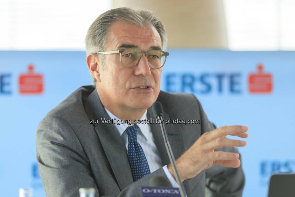 Fritz Mostböck, Leiter des Bereichs Group Research bei der Erste Group; Bild: Erste Group, Daniel Hinterramskogler (03.07.2017)