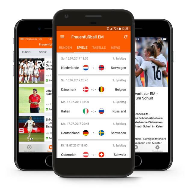 TorAlarm veröffentlicht App zur Frauen-Fußball-Europameisterschaft 2017, Bild: TorAlarm Gmbh (17.07.2017)