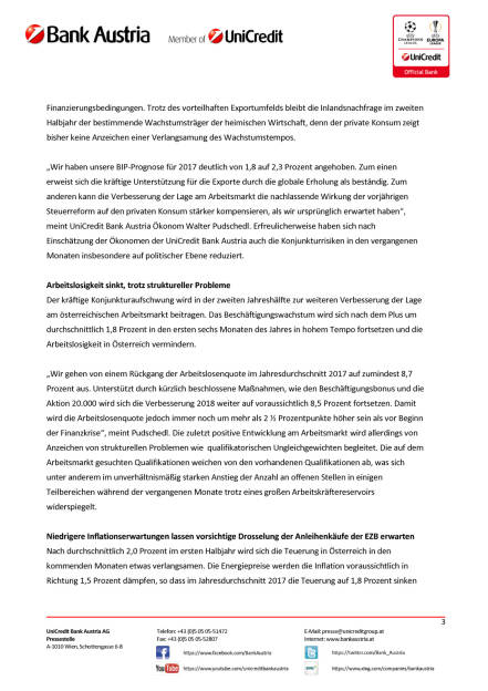 Wachstumsprognose 2017 für Österreich von 1,8 auf 2,3 Prozent erhöht, Seite 3/5, komplettes Dokument unter http://boerse-social.com/static/uploads/file_2288_wachstumsprognose_2017_fur_osterreich_von_18_auf_23_prozent_erhoht.pdf (17.07.2017)