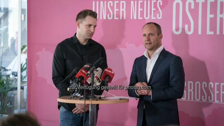 """NEOS - Das Neue Österreich: NEOS: Chancen-Allianz für ein Neues Österreich – Max Schrems für Chancen-Plan """"Faire Digitalisierung"""" (Fotocredit: NEOS)"""
