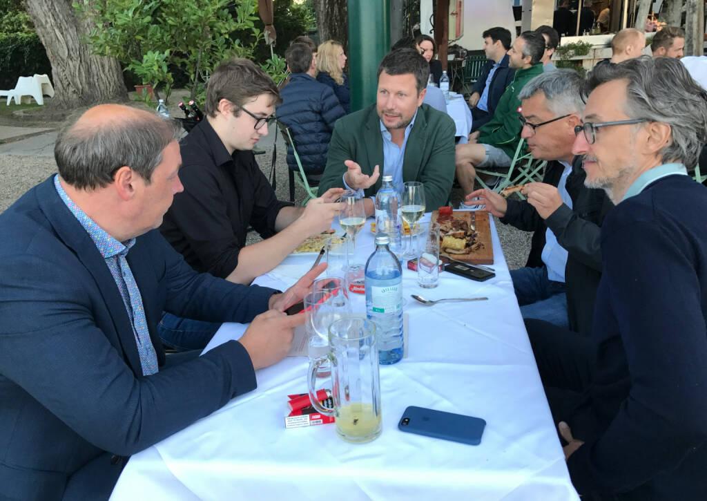 Hannes Roither (Palfinger), Martin Foussek (Own Austria), Josef Chladek (BSN) im Gespräch (26.07.2017)