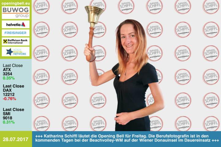 #openingbell am 28.7.: Katharina Schiffl läutet die Opening Bell für Freitag. Die Berufsfotografin ist in den kommenden Tagen bei der Beachvolley-WM auf der Wiener Donauinsel im Dauereinsatz http://www.facebook.com/katharinaschiffl/ https://www.facebook.com/groups/Sportsblogged/