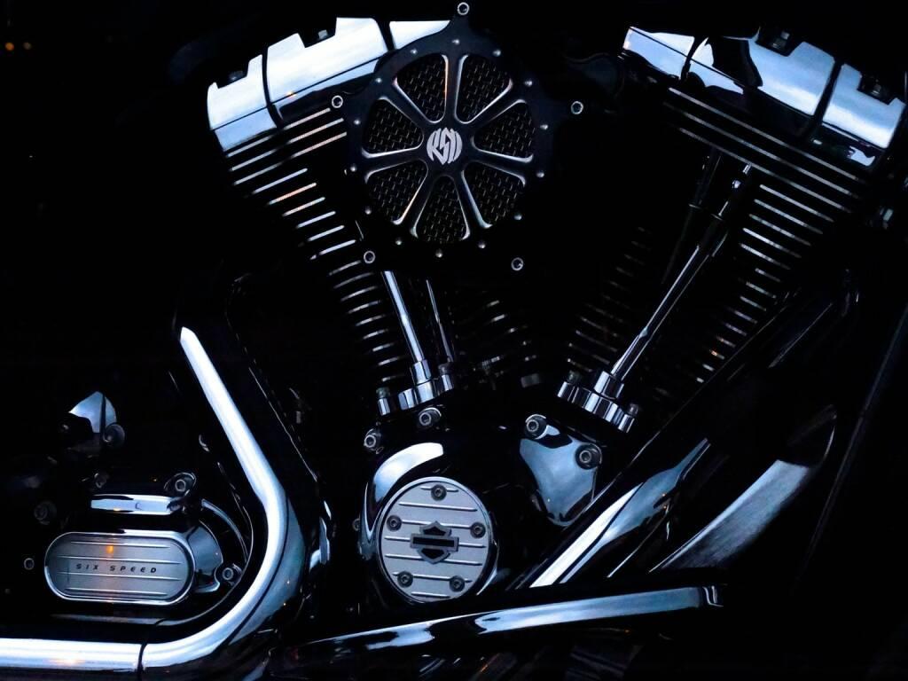 Motor, Harley Davidson (Bild: Pixabay/422737 https://pixabay.com/de/harley-davidson-motorräder-chrom-459594/ ) (28.07.2017)