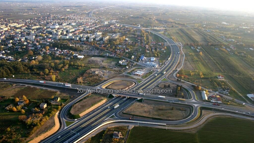 Porr baut Verkehrsknotenpunkt Lubelska in Zentralpolen. Auftragsvolumen: knapp EUR 45 Mio. (31.07.2017)