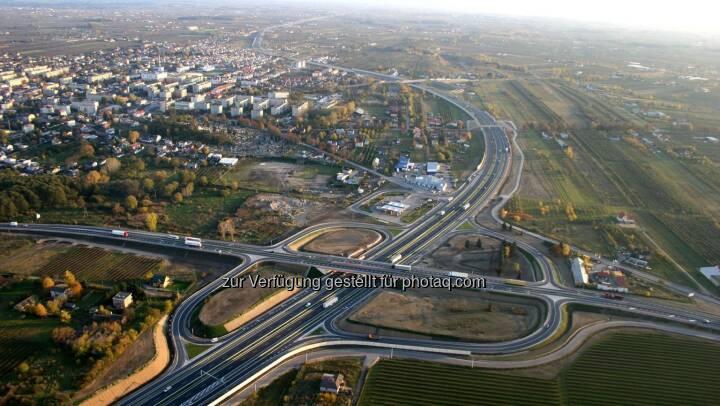 Porr baut Verkehrsknotenpunkt Lubelska in Zentralpolen. Auftragsvolumen: knapp EUR 45 Mio.