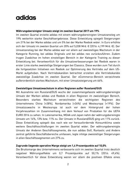 adidas - Q2 2017, Seite 2/9, komplettes Dokument unter http://boerse-social.com/static/uploads/file_2305_adidas_-_q2_2017.pdf